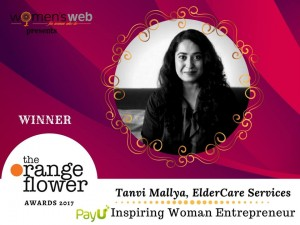 Inspiring Entrepreneur Award by Women's Web and PayU Money